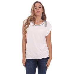 Ruhák Női Rövid ujjú pólók Gaudi 111FD64023 Fehér