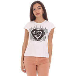 Ruhák Női Rövid ujjú pólók Gaudi 111FD64017 Fehér