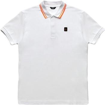 Ruhák Férfi Rövid ujjú galléros pólók Refrigiwear RM0T24000PX9032 Fehér