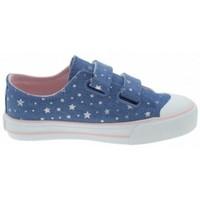 Cipők Lány Rövid szárú edzőcipők MTNG ZAPATILLAS VELCRO NIÑA MUSTANG 47289 Kék