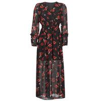 Ruhák Női Hosszú ruhák Moony Mood PILAF Fekete  / Piros