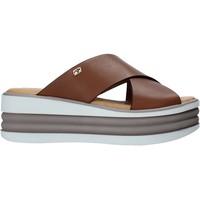 Cipők Női Papucsok Valleverde 28100 Barna