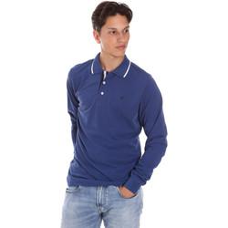 Ruhák Férfi Hosszú ujjú galléros pólók Key Up 2L711 0001 Kék