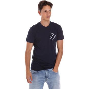 Ruhák Férfi Rövid ujjú pólók Key Up 2S431 0001 Kék