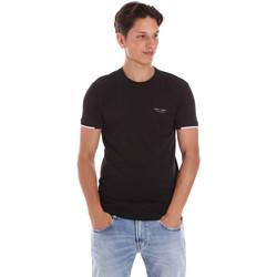 Ruhák Férfi Rövid ujjú pólók Key Up 2S420 0001 Fekete