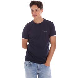 Ruhák Férfi Rövid ujjú pólók Key Up 2S420 0001 Kék