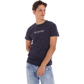 Ruhák Férfi Rövid ujjú pólók Key Up 2S438 0001 Kék