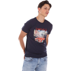 Ruhák Férfi Rövid ujjú pólók Key Up 2S427 0001 Kék