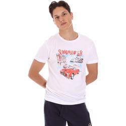 Ruhák Férfi Rövid ujjú pólók Key Up 2S427 0001 Fehér