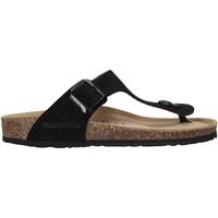 Cipők Női Lábujjközös papucsok Valleverde G5830QC Fekete