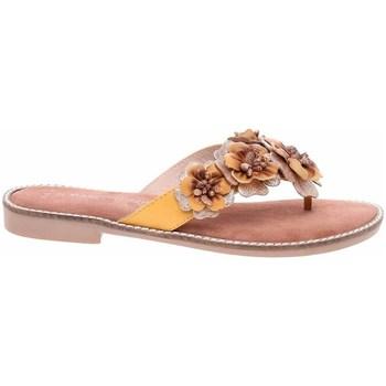 Cipők Női Lábujjközös papucsok Marco Tozzi 222710826674 Citromsárga