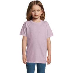 Ruhák Gyerek Rövid ujjú pólók Sols REGENT FIT CAMISETA MANGA CORTA Rosa