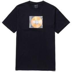 Ruhák Férfi Rövid ujjú pólók Huf T-shirt mix box logo ss Fekete