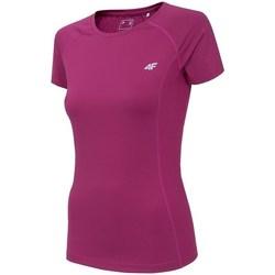 Ruhák Női Rövid ujjú pólók 4F TSDF002 Rózsaszín