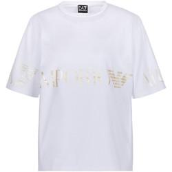 Ruhák Női Rövid ujjú pólók Ea7 Emporio Armani 3KTT18 TJ29Z Fehér