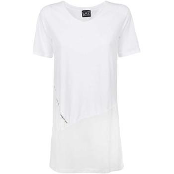 Ruhák Női Rövid ujjú pólók Ea7 Emporio Armani 3KTT36 TJ4PZ Fehér