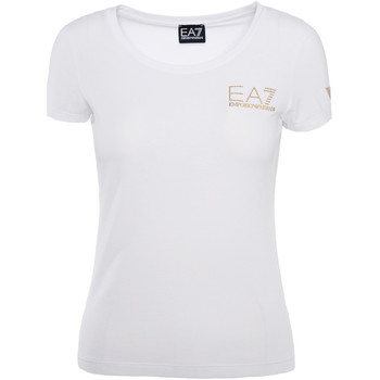 Ruhák Női Rövid ujjú pólók Ea7 Emporio Armani 8NTT65 TJ28Z Fehér