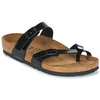 Cipők Női Papucsok Birkenstock MAYARI Fekete  / Lakkozott