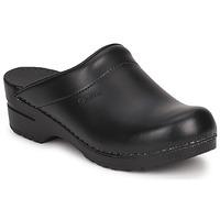 Cipők Női Klumpák Sanita SONJA OPEN Fekete