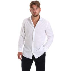 Ruhák Férfi Hosszú ujjú ingek Les Copains 20P500 P3196SL Fehér