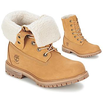 Cipők Női Csizmák Timberland AUTHENTICS TEDDY FLEECE WP FOLD DOWN Konyak / Tiszta