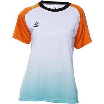Ruhák Női Rövid ujjú pólók Select T-shirt femme  Player Femina orange/blanc/vert