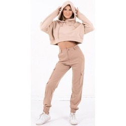 Ruhák Női Pulóverek Sixth June Sweatshirt Crop Top femme  Acid Printed beige