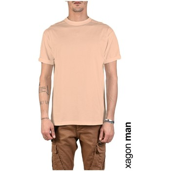 Ruhák Férfi Rövid ujjú pólók Xagon Man  Rózsaszín