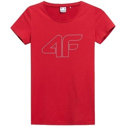 Ruhák Női Rövid ujjú pólók 4F TSD353 Piros