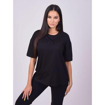 Ruhák Női Rövid ujjú pólók Project X Paris T-shirt femme basic noir