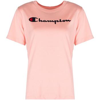 Ruhák Női Rövid ujjú pólók Champion  Rózsaszín