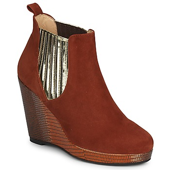 Cipők Női Bokacsizmák MySuelly LEON Rozsda / Arany