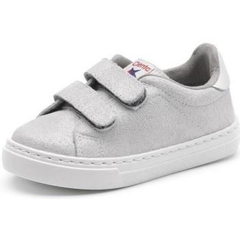 Cipők Lány Rövid szárú edzőcipők Cienta Chaussures fille  Deportivo Scractch Glitter gris clair