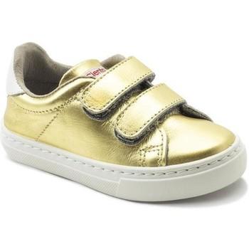 Cipők Lány Rövid szárú edzőcipők Cienta Chaussures fille  Deportivo Scractch Laminado doré