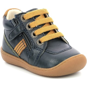 Cipők Lány Csizmák Aster Chaussures fille  Piasap bleu marine/orange clair