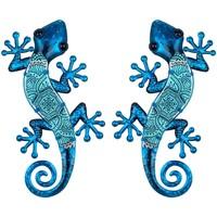 Otthon Szobrok, figurák Signes Grimalt Ábra Gyíkok 2 Egység Azul