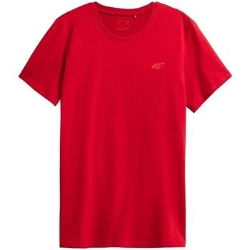 Ruhák Férfi Rövid ujjú pólók 4F TSM352 Piros