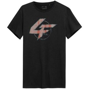 Ruhák Férfi Rövid ujjú pólók 4F TSM022 Fekete