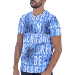 Ruhák Férfi Rövid ujjú pólók Bikkembergs C 4 101 00 E 2250 Kék