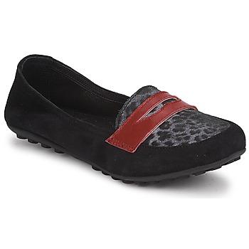 Cipők Lány Mokkaszínek Mod'8 CELEMOC JUNIOR Fekete  / Leopárd / Piros