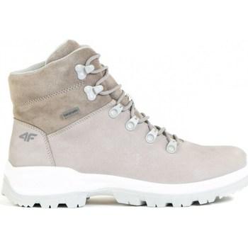 Cipők Női Magas szárú edzőcipők 4F OBDH251 Bézs
