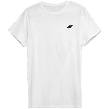 Ruhák Férfi Rövid ujjú pólók 4F TSM352 Fehér