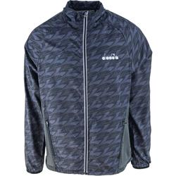 Ruhák Férfi Melegítő kabátok Diadora Windbreaker Fekete