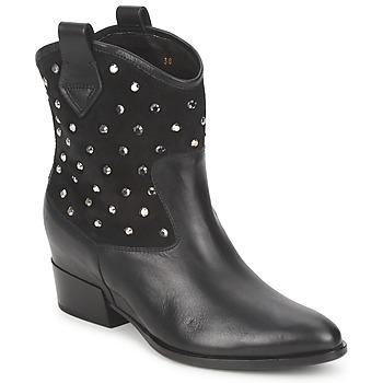 Cipők Női Csizmák Alberto Gozzi GIANNA Velúr-fekete