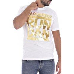 Ruhák Férfi Rövid ujjú pólók Dsquared S74GD0445 Fehér