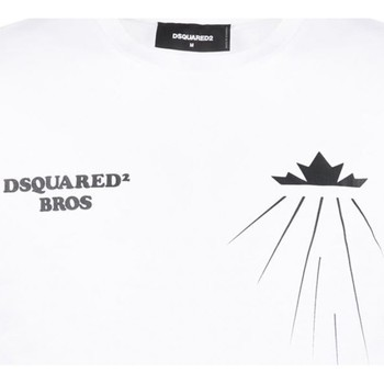 Ruhák Férfi Rövid ujjú pólók Dsquared S71GD0885 Fehér