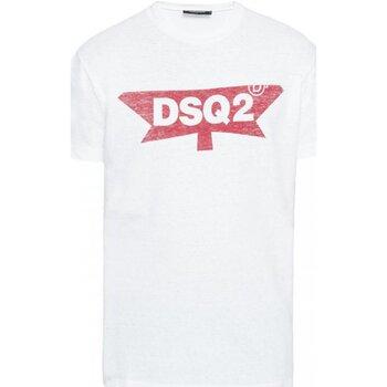 Ruhák Férfi Rövid ujjú pólók Dsquared S71GD0596 Fehér