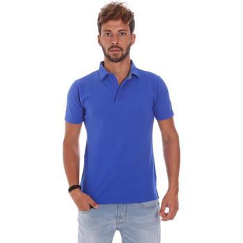 Ruhák Férfi Rövid ujjú galléros pólók Bradano 201014M Kék