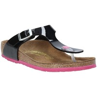 Cipők Gyerek Lábujjközös papucsok Birkenstock 845863 Fekete