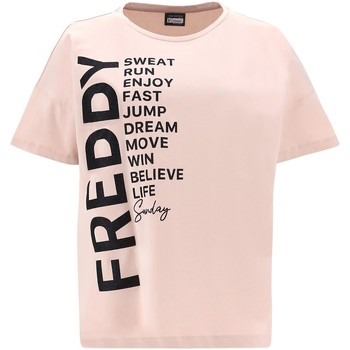 Ruhák Női Rövid ujjú pólók Freddy F1WSDT1 Rózsaszín